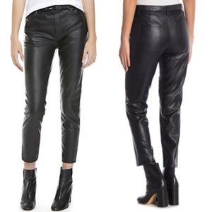 NWT Free People Black Vegan Leather Pants